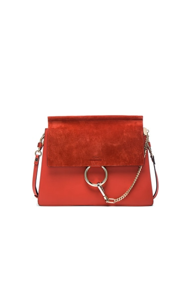 Medium Leather Faye Shoulder Bag