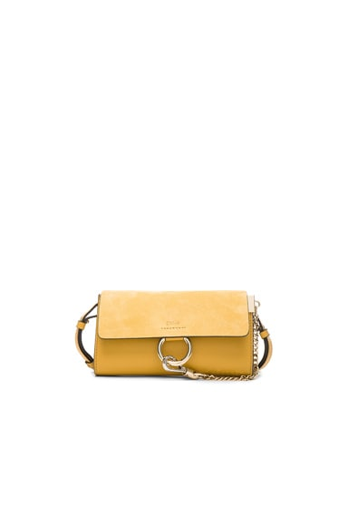 Chloe Faye Wallet on Strap in Dusty Yellow