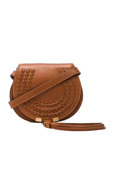 Small Leather Braid Marcie Satchel