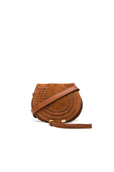 Chloe Small Marcie Suede & Leather Marcie Satchel in Caramel