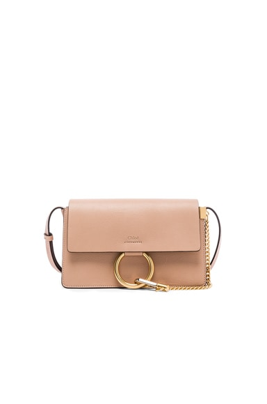Chloe Small Leather Faye Bag in Biscotti Beige