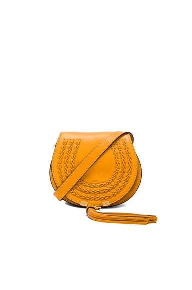 Chloe Small Braid Marcie Satchel in Luminous Yellow