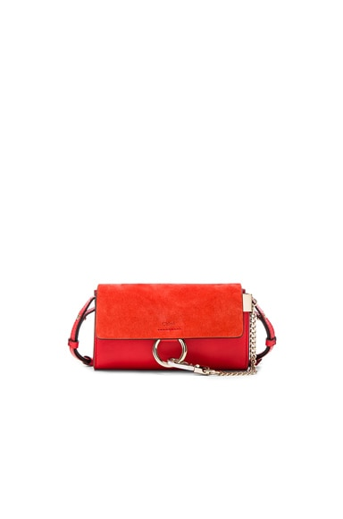 Chloe Faye Strap Wallet in Poppy Red