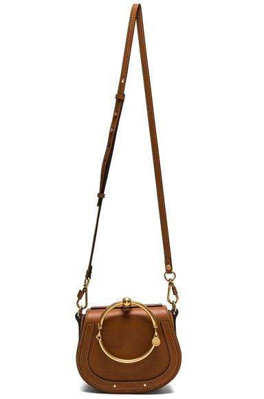 Small Nile Suede & Calfskin Bracelet Bag