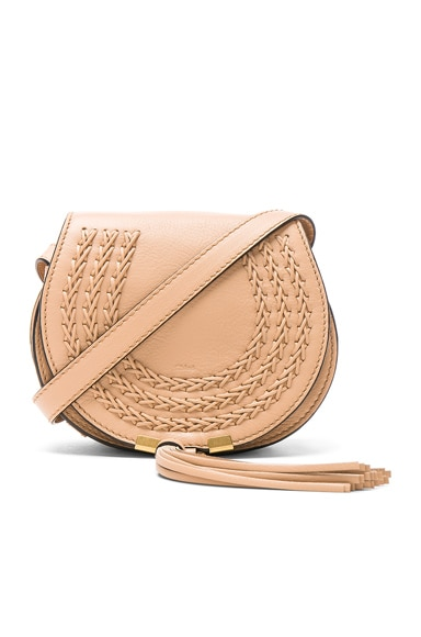 Chloe Small Braid Marcie Satchel in Blush Nude
