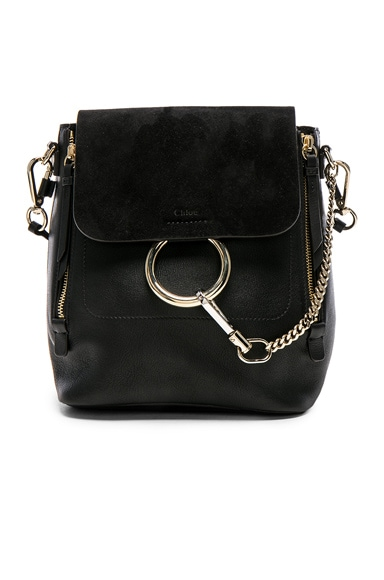 Small Faye Leather & Suede Backpack Chloe