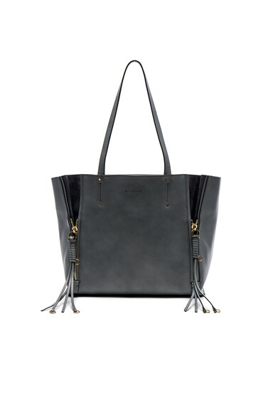 Medium Milo Leather & Suede Tote