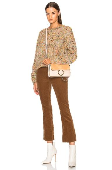 Small Faye Suede & Calfskin Shoulder Bag