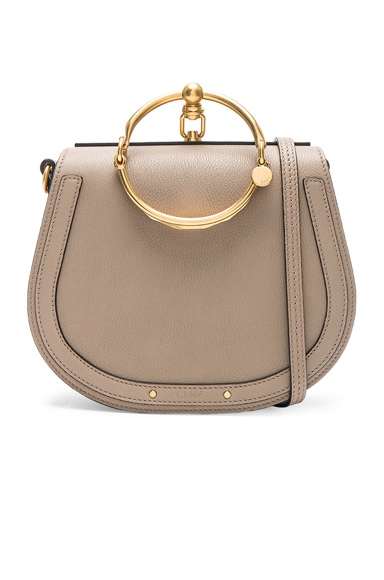 Medium Nile Suede & Calfskin Bracelet Bag Chloe