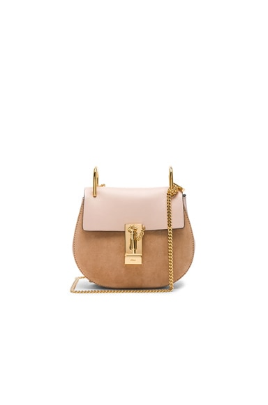 Mini Drew Suede & Leather Shoulder Bag