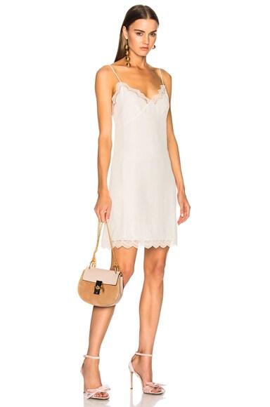 Mini Drew Calfskin & Suede Shoulder Bag