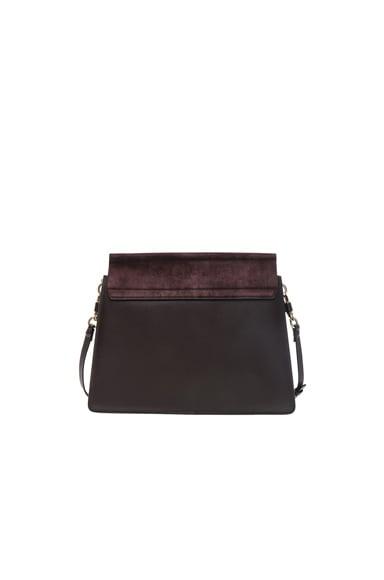 Medium Faye Suede & Calfskin Shoulder Bag