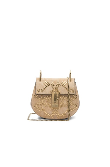 Mini Drew Constellation Studded Suede Shoulder Bag