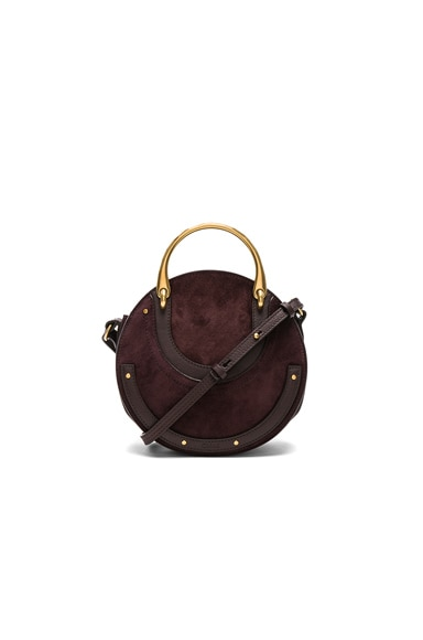 Small Pixie Suede & Calfskin Double Handle Bag