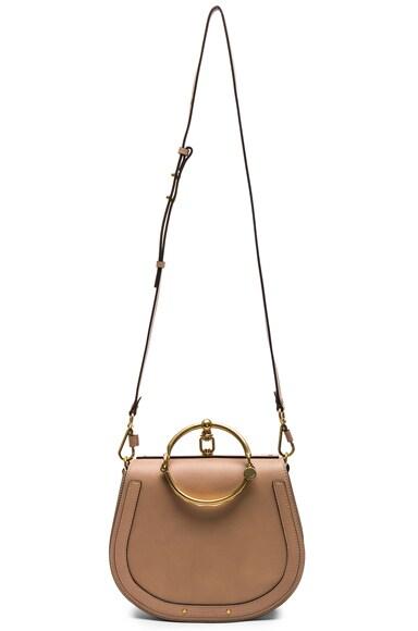Medium Nile Calfskin & Suede Bracelet Bag