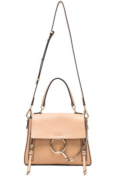 Small Faye Calfskin & Suede Day Bag