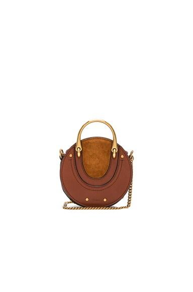 Mini Pixie Shiny Goatskin, Calfskin & Suede Double Handle Bag