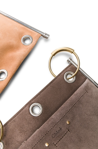 Small Roy Calfskin & Suede Double Clutch