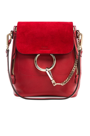 Small Faye Calfskin & Suede Backpack