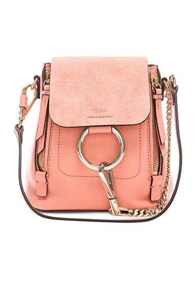 Mini Faye Calfskin & Suede Backpack