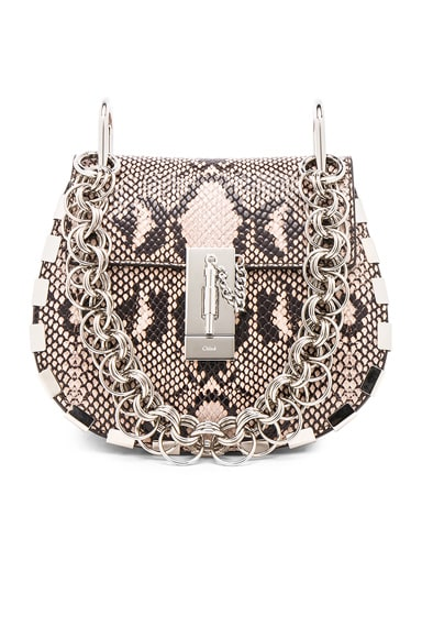 Mini Drew Bijou Python Print Leather Shoulder Bag