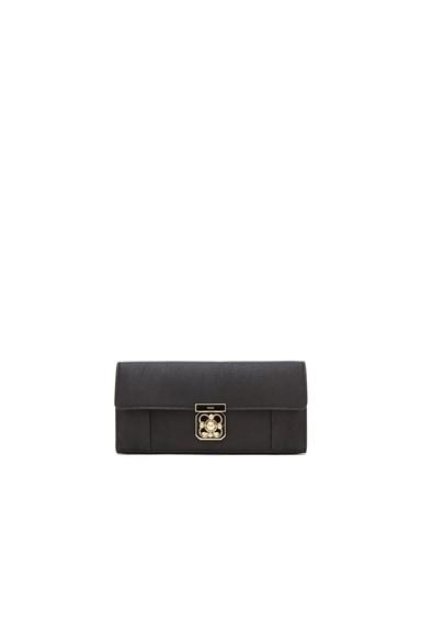 Chloe Long Elsie Wallet with Flap in Black