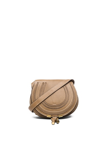 Chloe Small Marcie Saddle Bag in Nut