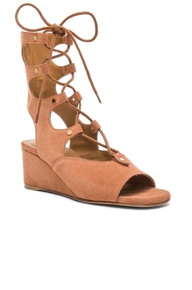 Suede Foster Wedge Sandals