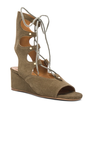 Foster Suede Wedge Sandals
