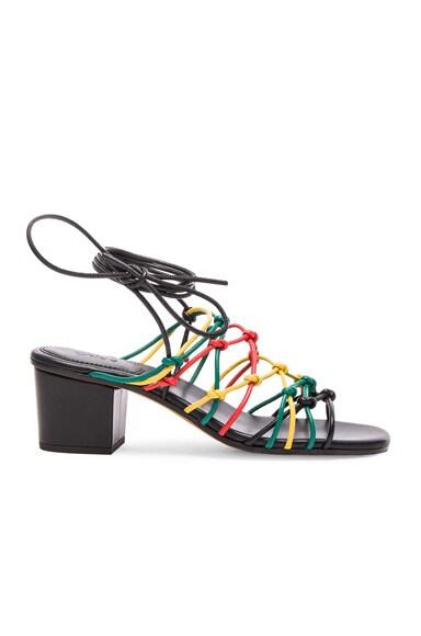 Chloe Leather Net Heels in Jamaica