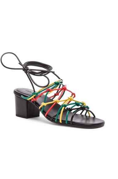 Leather Net Heels