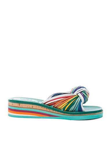 Chloe Leather Knot Sandals in Multi