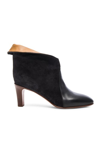 Chloe Kole Suede Boots in Charcoal Grey