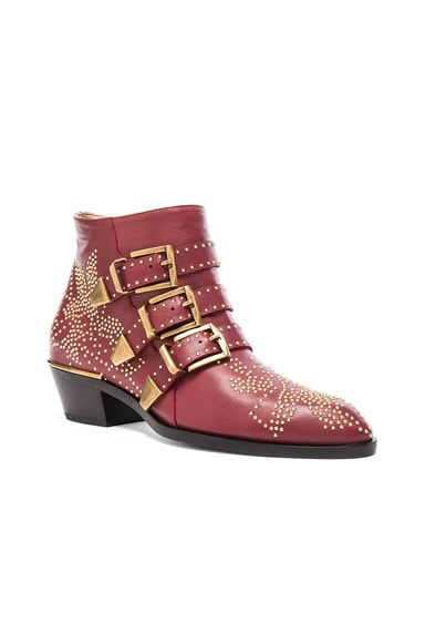 Susanna Leather Studded Booties