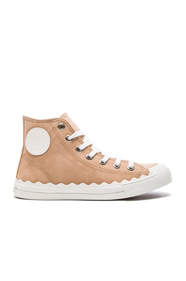 Chloe Suede Kyle Sneakers in Reef Shell