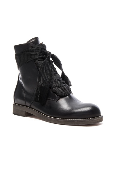 Leather Harper Lace Up Boots