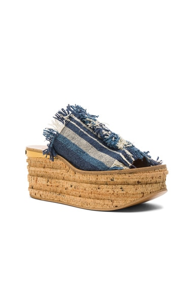 Stripy Canvas Camille Wedges