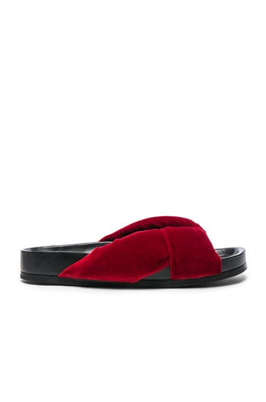 Chloe Velvet Nolan Slides in Queen Berry