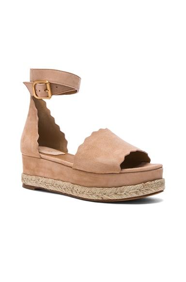 Suede Lauren Platform Sandals