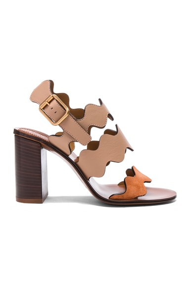 Chloe Palmer Sandals in Beige Rose