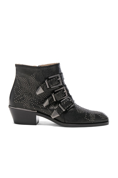 Susanna Metallic Leather Studded Booties