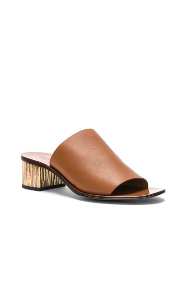Qassie Semi-Shiny Calf Leather Mules