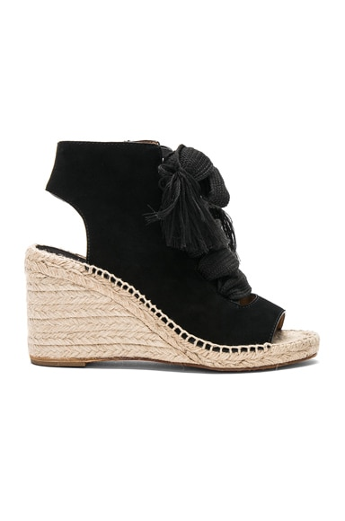 Harper Suede Lace Up Espadrilles