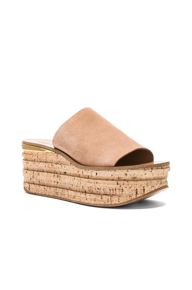 Camille Suede Wedge Sandals