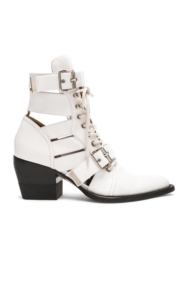 Leather Rylee Lace Up Buckle Boots