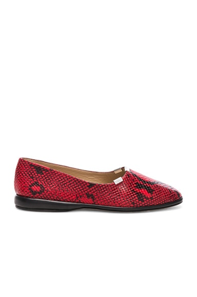 Skye Python Print Leather Flats