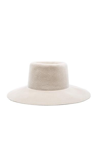 Clyde Wide Brim Gaucho Hat in Alabaster