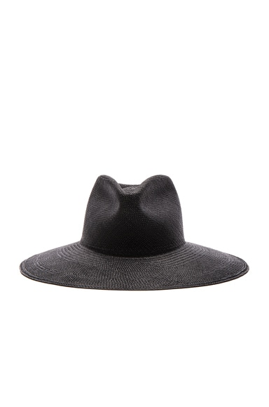 Clyde Pinch Panama Hat in Black
