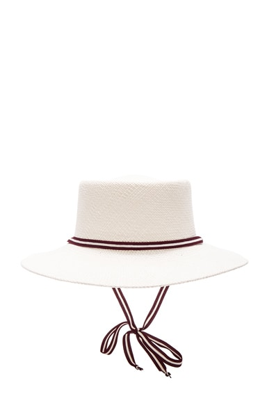 Clyde Telescope Hat in White
