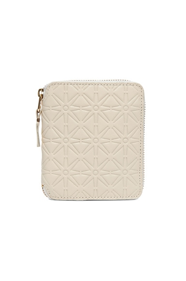 Star Embossed Zip Fold Wallet
